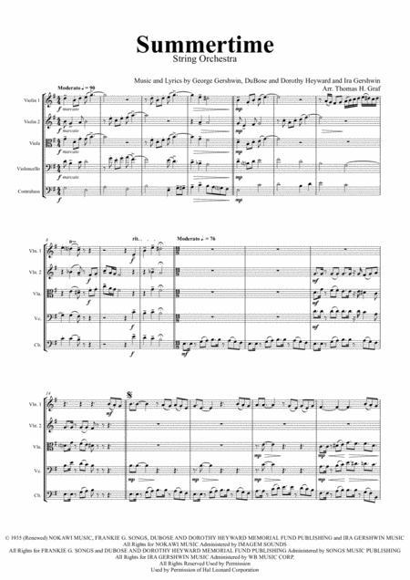 Summertime - Gershwin - 11/8 - String Orchestra