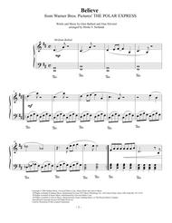 Believe, Polar Express, easy piano