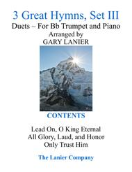 Gary Lanier: 3 GREAT HYMNS, Set III (Duets for Bb Trumpet & Piano)