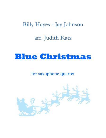 Blue Christmas - for saxophone quartet