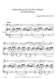 6 Salon Pieces, Op.120, No.4 'Dream' for Viola & Piano