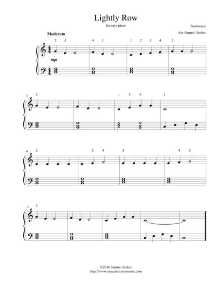 Lightly Row For Easy Piano By Traditional Digital Sheet Music For Download Print S0 127771 Sheet Music Plus