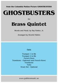 Ghostbusters for Brass Quintet