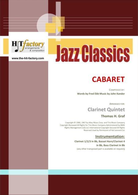 Cabaret - Jazz - Liza Minelli - Clarinet Quintet
