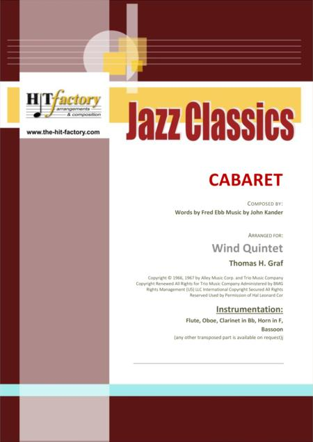 Cabaret - Jazz - Liza Minelli - Wind Quintet
