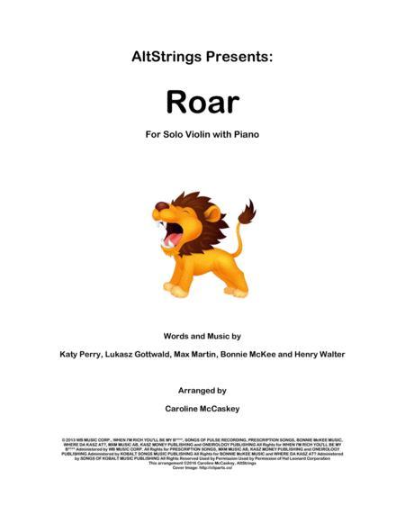 Roar - Violin Solo, Piano Accompaniment
