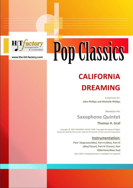 California Dreaming - Beach Boys, Mamas & the Papas - Saxophone Quintet