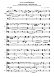 Dialogue between the sesquialtera and flutes, for Organ
