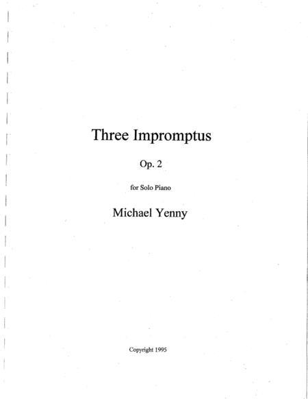 Three Impromptus, op. 2