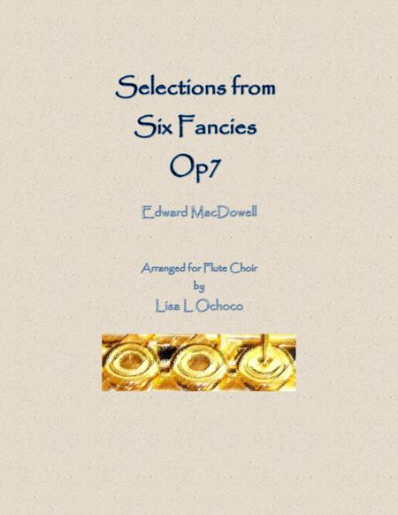 Selections from Six Fancies for Flute Choir