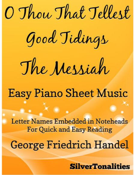 O Thou That Tellest Good Tidings Messiah Easy Piano Sheet Music