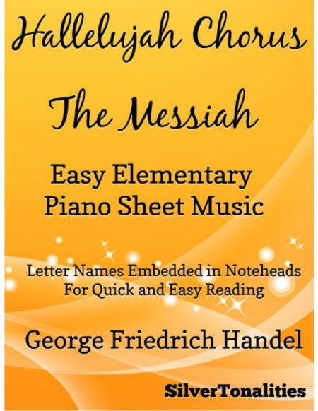 Hallelujah Chorus Easy Elementary Piano Sheet Music