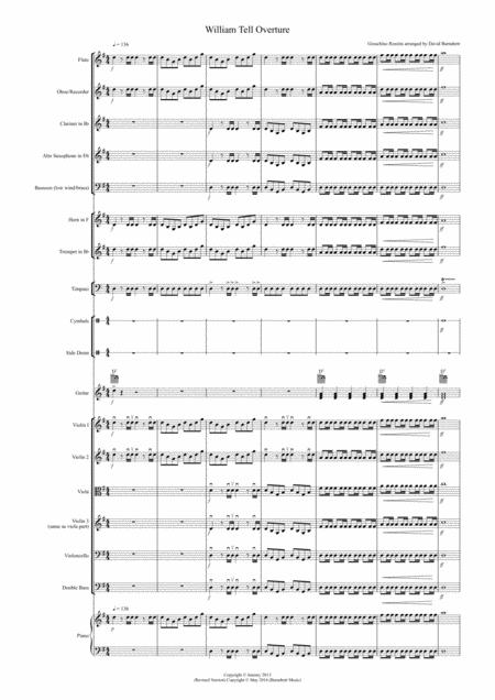 William Tell Overture for School Orchestra (version two)