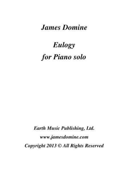 Eulogy for Piano Solo
