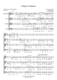 I Sing of a Maiden, for SATB choir