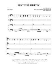 Don't Stop Believin' - piano 4 hands
