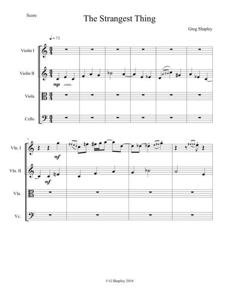 The Strangest Thing for string quartet