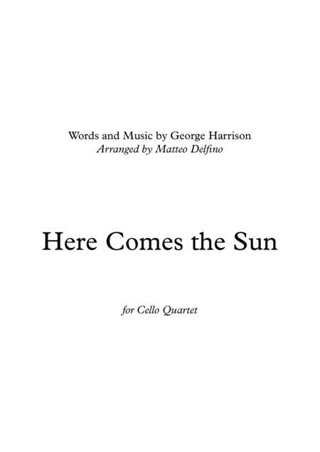 Here Comes the Sun (for Cello Quartet)