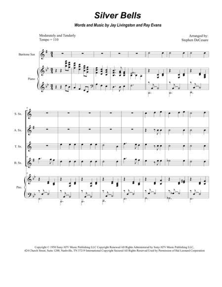 Silver Bells (for Saxophone Quartet)