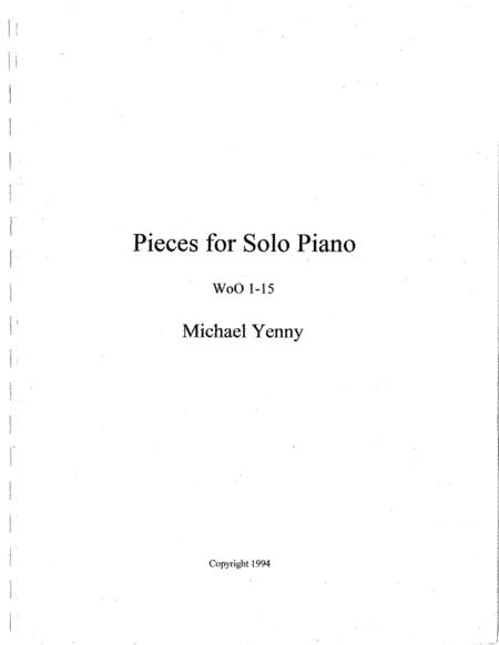 Pieces for Solo Piano, WoO 1-15