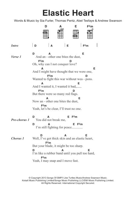 Download Elastic Heart Sheet Music By Sia Sheet Music Plus