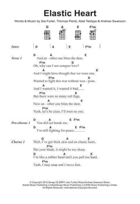 Download Elastic Heart Sheet Music By Sia - Sheet Music Plus