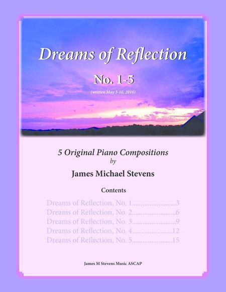Dreams of Reflections, No. 1-5 - Piano Book