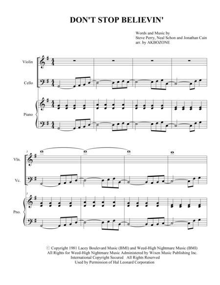Don't Stop Believin' - Piano Trio