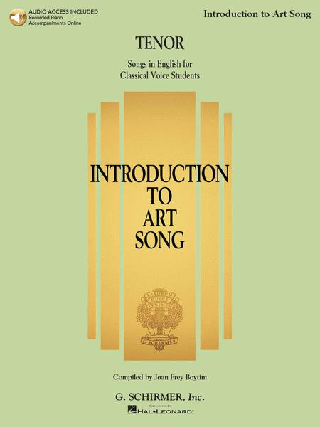Introduction to Art Song for Tenor