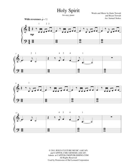 holy spirit you are welcome here sheet music - Heart.impulsar.co