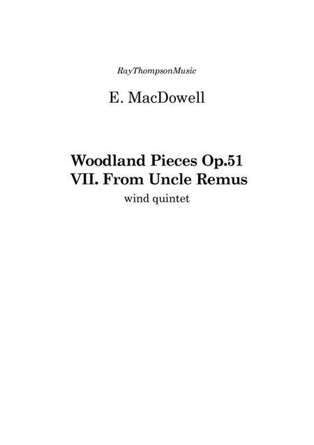 MacDowell: 10 Woodland Sketches Op.51 No.7