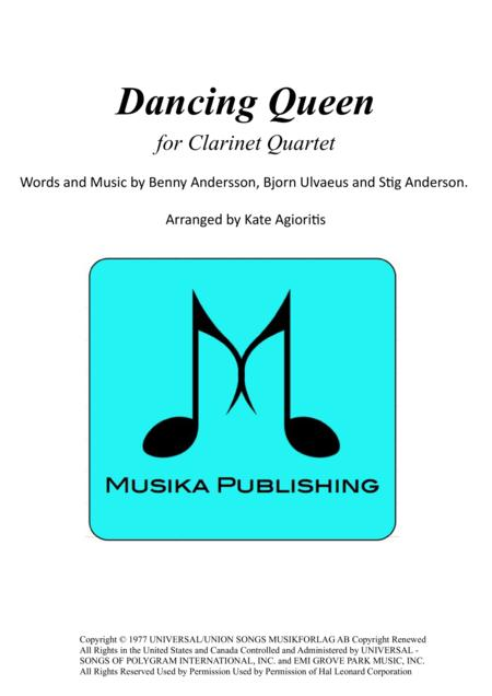 Dancing Queen - for Clarinet Quartet