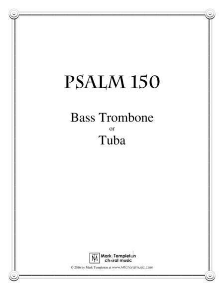 Psalm 150 (Bass Trombone or Tuba)