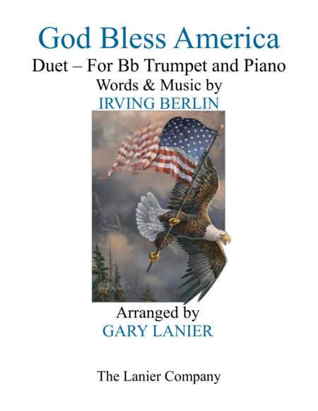 GOD BLESS AMERICA (Duet –  Bb Trumpet & Piano with Parts)