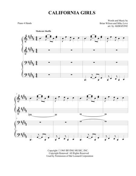California Girls - piano 4 hands
