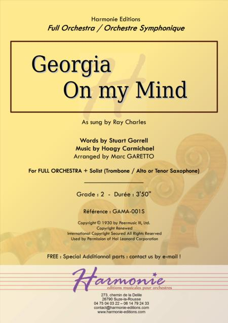 GEORGIA ON MY MIND (Ray Charles) - For String or Full Orchestra