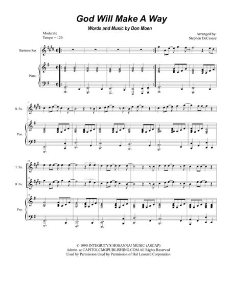 god will make a way sheet music pdf