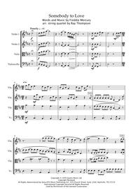 Queen: Somebody To Love - string quartet