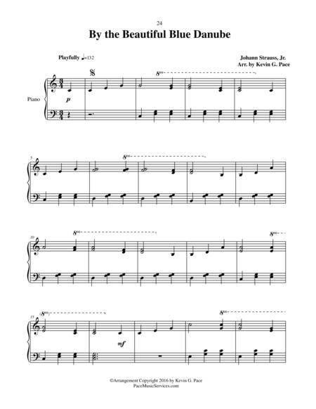 By the Beautiful Blue Danube - moderate level piano solo