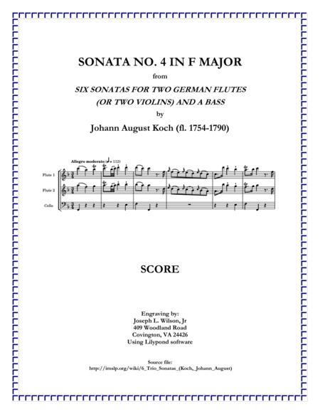 Koch Trio Sonata No. 4 in F Major