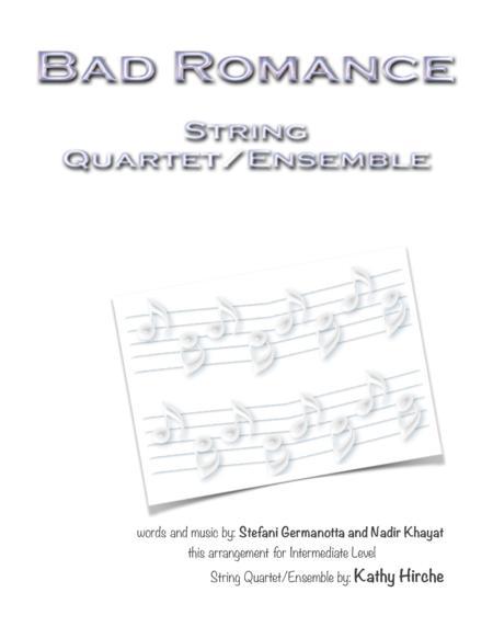 Bad Romance - String Quartet/Ensemble