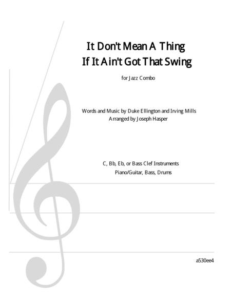 It Don't Mean A Thing (If It Ain't Got That Swing) (Lead instrument plus rhythm section)
