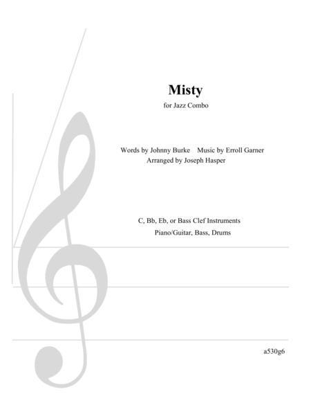 Misty - Stock Arrangement for Jazz Combo