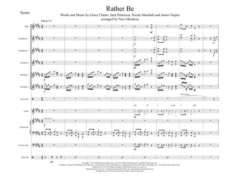Rather Be (arranged for percussion ensemble)