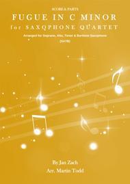 Fugue in C Minor for Saxophone Quartet (SATB)