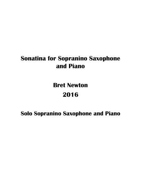 Sonatina for Sopranino Saxophone and Piano
