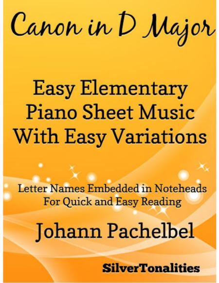 Canon in D Major Elementary Piano With Variations Sheet Music