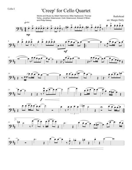 Download Creep For Cello Quartet Sheet Music By Radiohead - Sheet ...