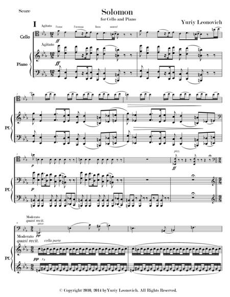 Solomon for Cello and Piano