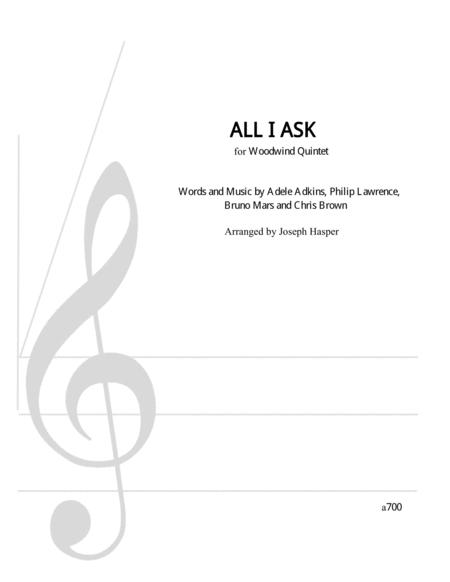 All I Ask (Woodwind Quintet)